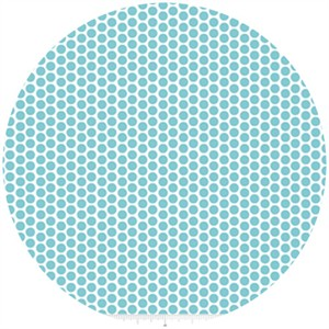 Riley Blake, Honeycomb Dot Reversed, Aqua