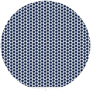 Riley Blake, Honeycomb Dot Reversed, Navy