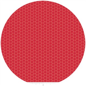 Riley Blake, Honeycomb Dot Tone on Tone, Red