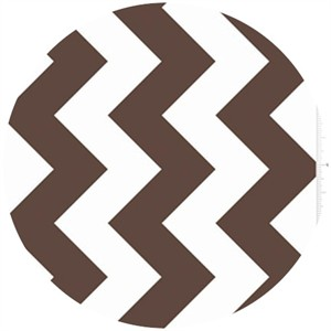 Riley Blake, Large Chevron, Brown