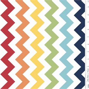 Riley Blake, Large Chevron, Rainbow
