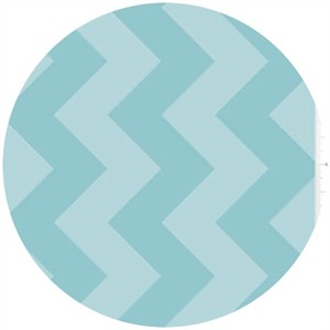 Riley Blake, Large Chevron, Tone on Tone Aqua