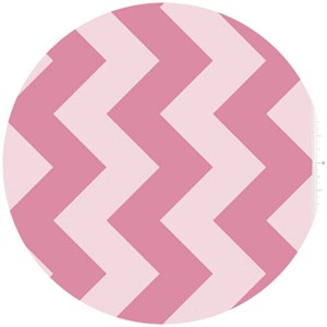 Riley Blake, Large Chevron, Tone on Tone Hot Pink