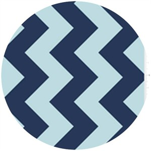 Riley Blake, Large Chevron, Tone on Tone Navy