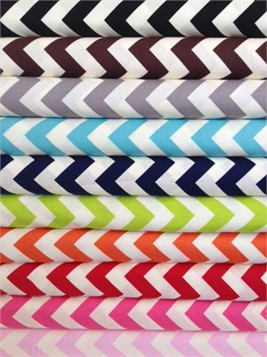 Riley Blake, Le Creme, Medium Chevron On Cream in FAT QUARTERS 10 Total