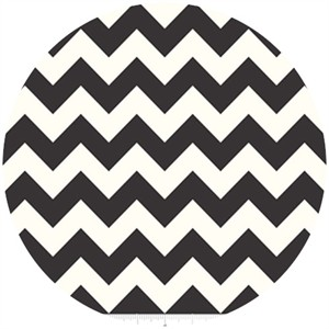 Riley Blake, Le Creme, Medium Chevron On Cream, Black