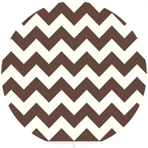 Riley Blake, Le Creme, Medium Chevron On Cream, Brown