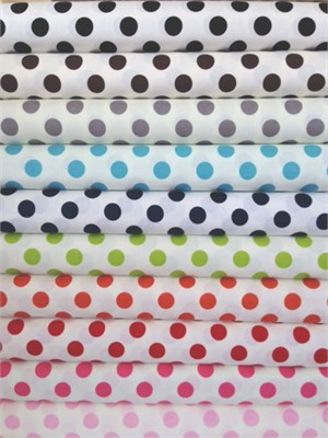 Riley Blake, Le Creme, Medium Dot On Cream in FAT QUARTERS 10 Total
