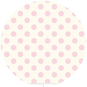 Riley Blake, Le Creme, Medium Dot On Cream, Baby Pink