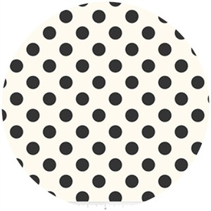 Riley Blake, Le Creme, Medium Dot On Cream, Black
