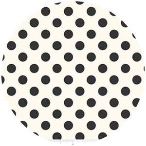 Riley Blake, Le Creme, Medium Dot On Cream, Black