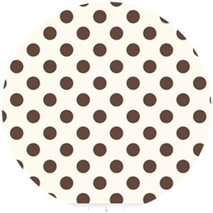 Riley Blake, Le Creme, Medium Dot On Cream, Brown