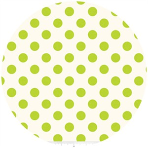 Riley Blake, Le Creme, Medium Dot On Cream, Lime