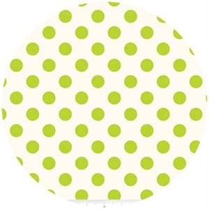 Riley Blake, Le Creme, Medium Dot On Cream, Lime