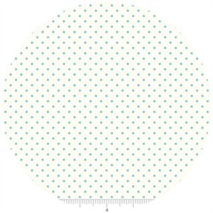 Riley Blake, Le Creme, Swiss Dot On Cream, Aqua