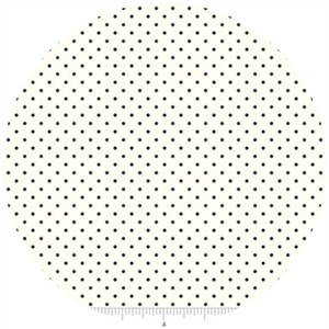 Riley Blake, Le Creme, Swiss Dot On Cream, Black