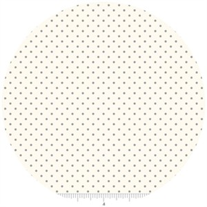 Riley Blake, Le Creme, Swiss Dot On Cream, Gray