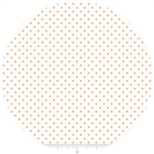 Riley Blake, Le Creme, Swiss Dot On Cream, Hot Pink