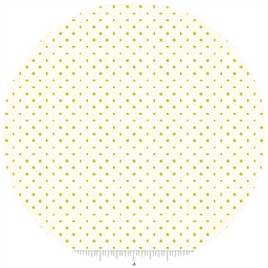 Riley Blake, Le Creme, Swiss Dot On Cream, Lime
