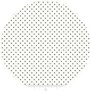 Riley Blake, Le Creme, Swiss Dot On Cream, Navy