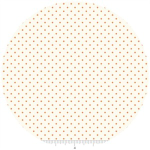 Riley Blake, Le Creme, Swiss Dot On Cream, Orange