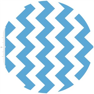 Riley Blake, Medium Chevron, Blue