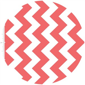 Riley Blake, Medium Chevron, Rouge