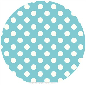 Riley Blake, Le Creme, Medium Dot, Aqua