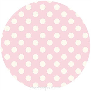 Riley Blake, Le Creme, Medium Dot, Baby Pink