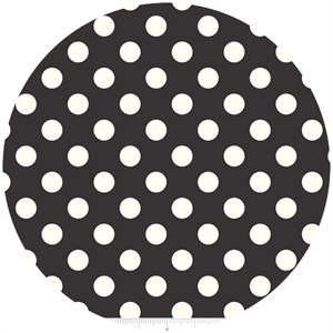 Riley Blake, Le Creme, Medium Dot, Black