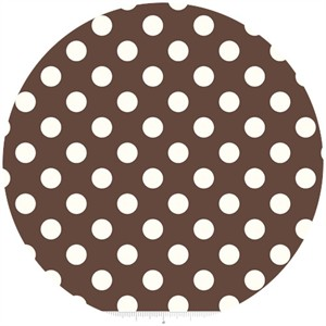 Riley Blake, Le Creme, Medium Dot, Brown
