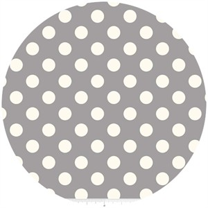 Riley Blake, Le Creme, Medium Dot, Gray