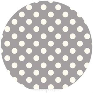 Riley Blake, Le Creme, Medium Dot, Gray