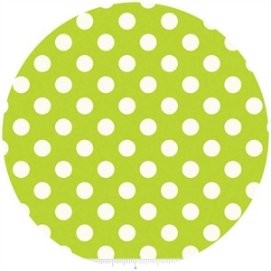 Riley Blake, Le Creme, Medium Dot, Lime