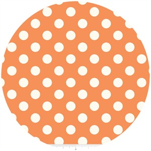 Riley Blake, Le Creme, Medium Dot, Orange