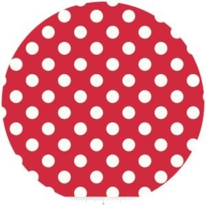 Riley Blake, Le Creme, Medium Dot, Red