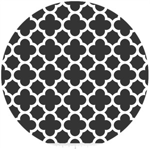 Riley Blake, Quatrefoil, Black
