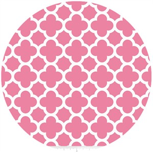 Riley Blake, Quatrefoil, Hot Pink