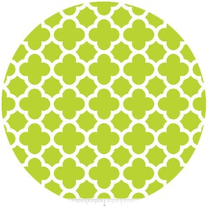 Riley Blake, Quatrefoil, Lime