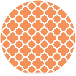 Riley Blake, Quatrefoil, Orange