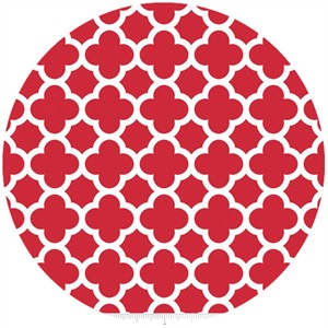 Riley Blake, Quatrefoil, Red