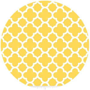 Riley Blake, Quatrefoil, Yellow