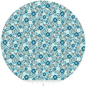 Riley Blake, Roundup!, Cowboy Floral Blue