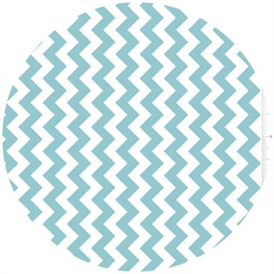 Riley Blake, Small Chevron, Aqua