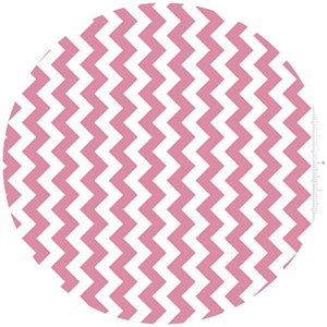 Riley Blake, Small Chevron, Hot Pink