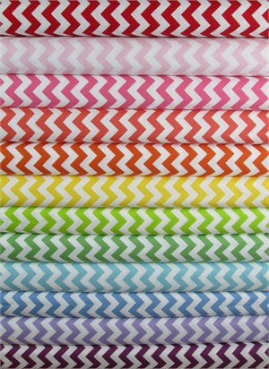 Riley Blake, Small Chevron in FAT QUARTERS 12 Total