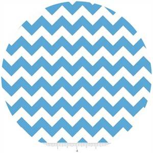 Riley Blake, Small Chevron, Medium Blue