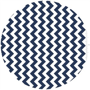 Riley Blake, Small Chevron, Navy
