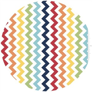 Riley Blake, Small Chevron, Rainbow
