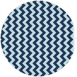 Riley Blake, Small Chevron, Tone on Tone Navy